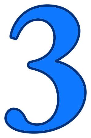 3 blue